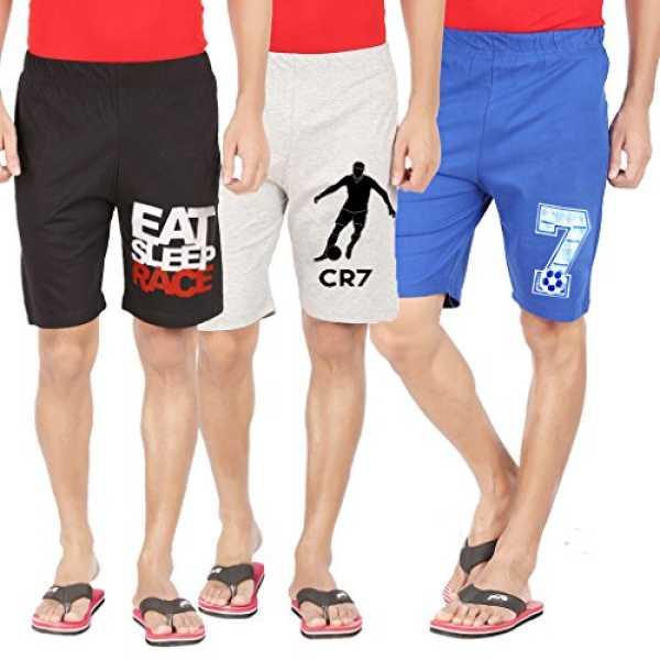 Hotfits Men's Cotton Shorts (3combo1-34_Multi-ColouredLarge)