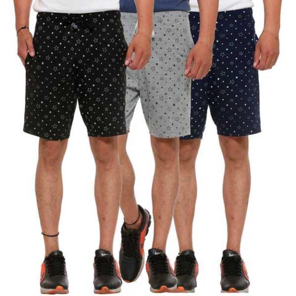 Vimal Solid Men's Multicolor Basic Shorts