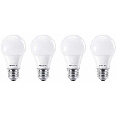 Syska 9W Standard E27 900L LED Bulb (White,Pack of 4) - White