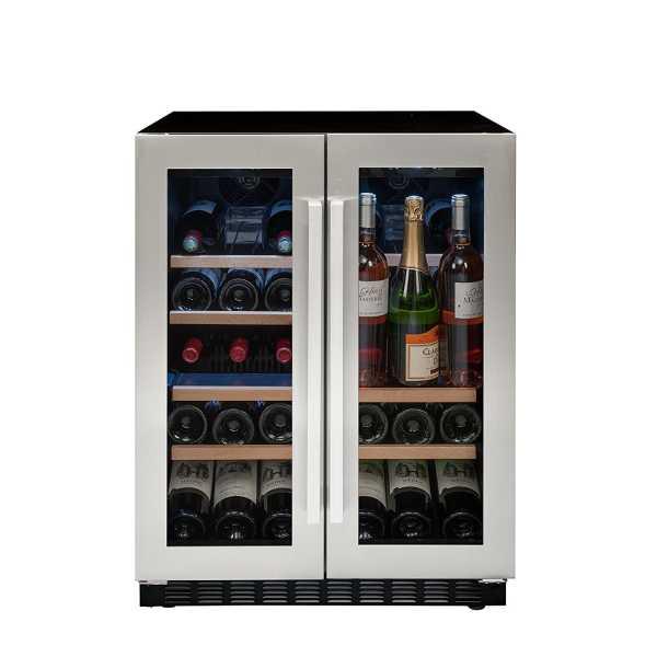 Avintage AVU41SXDPA 2 Zone Wine Chiller - Silver