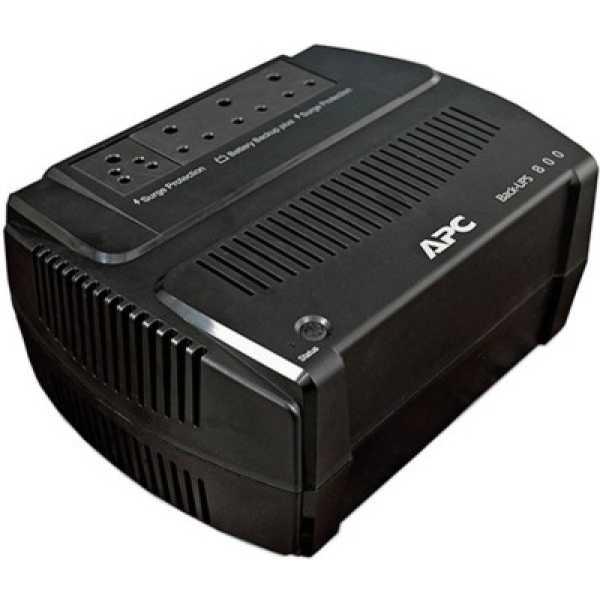 APC BE800-IND 400W/800VA Backup UPS - Black
