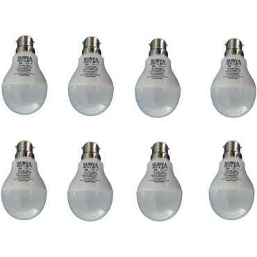 Surya 5W White 450 Lumens LED Bulbs (Pack Of 8) - White