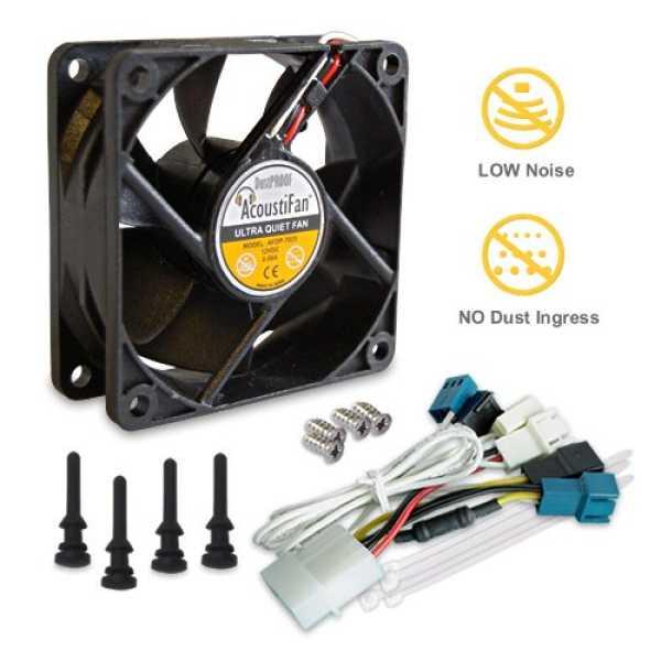 Acousti AFDP 7025B 70mm Dustproof Ultra Quiet Cooling Fan