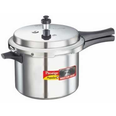 Prestige Popular Plus Aluminium 5 L Pressure Cooker Induction Bottom Outer Lid