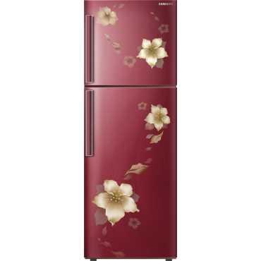 Samsung RT28K3343R2 253L Double Door Refrigerator (Star Flower) - Brown   Red   Blue