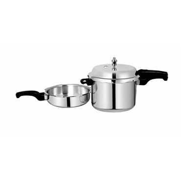 Sumeet Combo of Aluminium 7.5 L Pressure Cooker And 3.5 L Pan - White