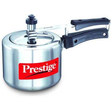 Prestige Nakshatra Plus Aluminium 3 L Pressure Cooker (Induction Bootom, Inner Lid) - Silver | Black