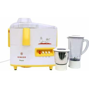 Singer Peppy DX 500W Juicer Mixer Grinder (2 Jars) - Yellow