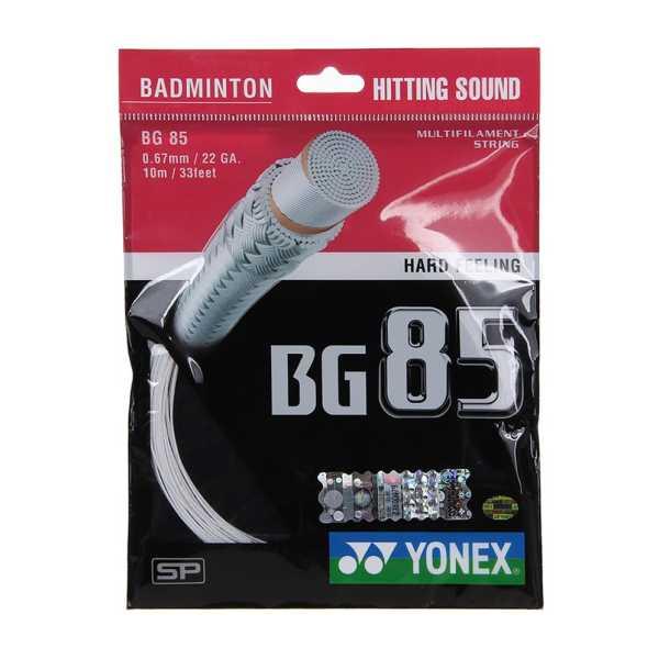 Yonex BG 85 0.67mm Badminton Strings 10m - Blue