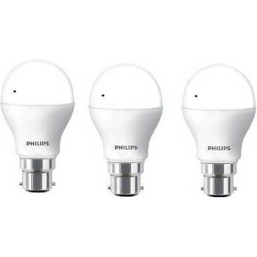 Philips 14 W 01 LED Bulb B22 White (pack of 3) - White