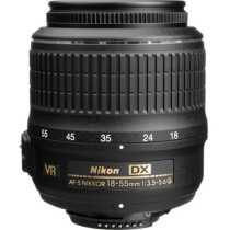 Nikon AF-S DX NIKKOR 18-55mm f/3.5-5.6G VR (3.0x) Lens - Black