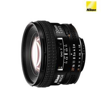 Nikon AF Nikkor 20mm f/2.8D Lens - Black