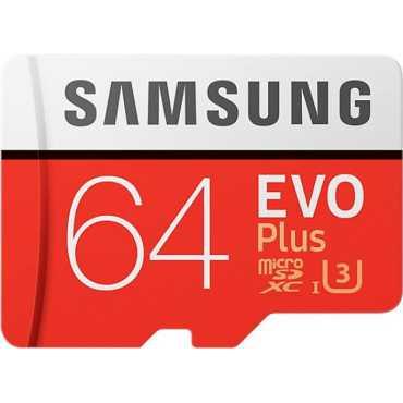 Samsung EVO Plus (MB-MC64GA) 64GB Class 10 (100MB/s) Memory Card (With Adapter)