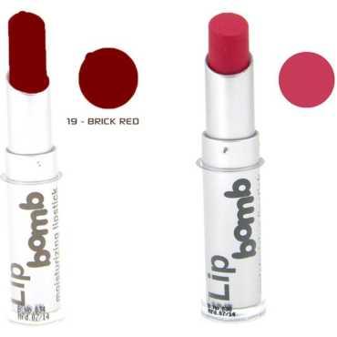 Color Fever CF Bomb Lipstick 19-20 (Brick Red, Scarlet) (Set of 2) - Red