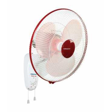 Orient Crimson 3 Blade (400mm) Wall Fan - Red