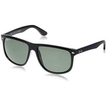 Aviator Black Frame Green Polarized Lens Sunglasses RB4147-601 58