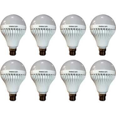 Maxcon 12 W LED 6500k Bulb B22 Cool White (pack of 8) - White