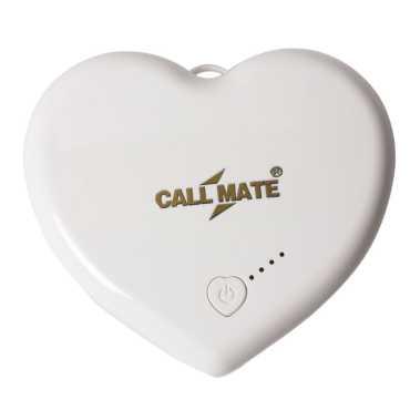 Callmate Heart Shape 5200mAh Power Bank - Red | White