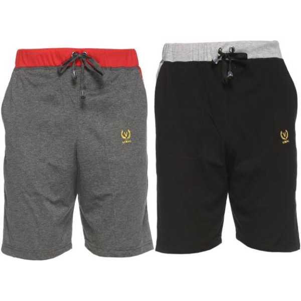 Vimal Striped Men's Multicolor Basic Shorts