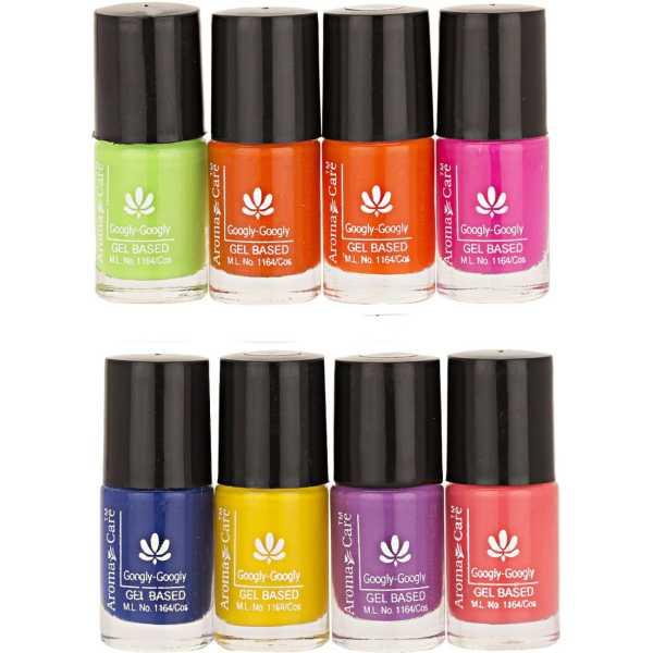 Aroma Care Mab Nail Polish 01-03 (Multicolor) (Set of 8)