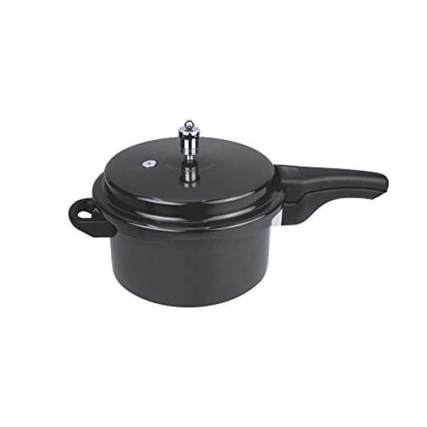Wonderchef 60017100 Aluminium 3 L Pressure Cooker (Induction Bottom,Outer Lid) - Black