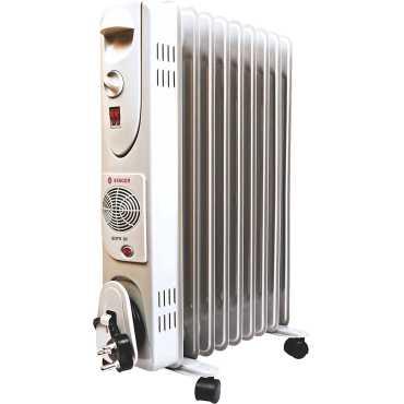 Singer SOFR 9F 2600W Oil Filled Radiator Room Heater - White