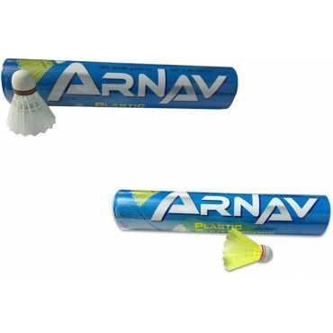 Arnav A1 Plastic Shuttle (Pack of 20) - Yellow