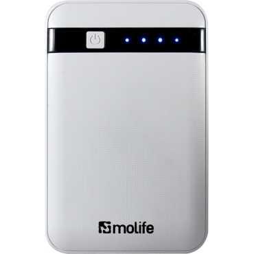 Molife 12000mAh Power Bank - White