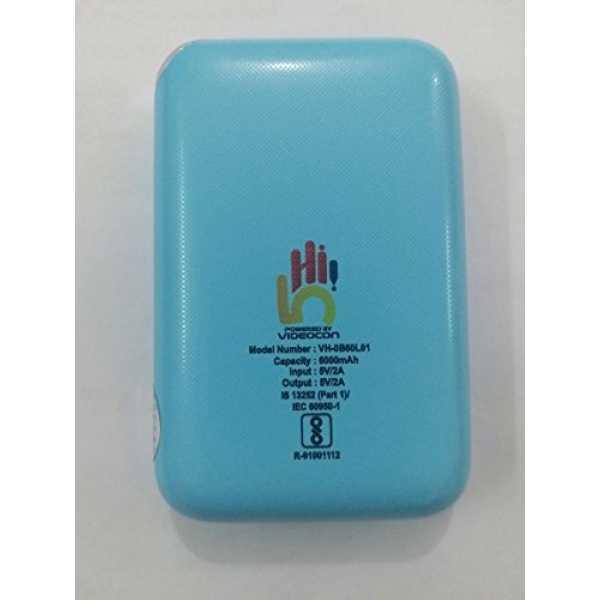 Videocon (VH-0B60L01) 6000mAh Power Bank - Blue