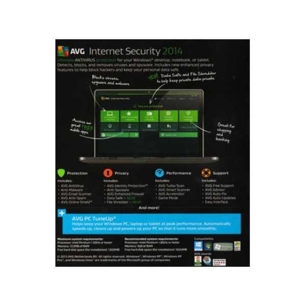 AVG Internet Security 2014 1 PC 1 Year
