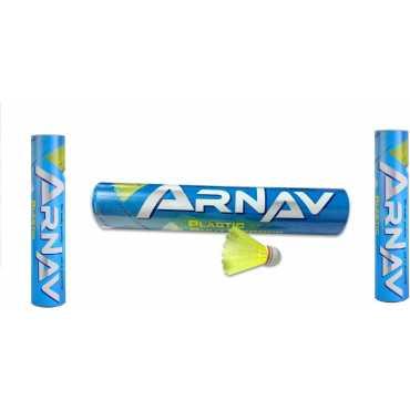 Arnav Plastic Shuttlecock (Pack of 30) - Yellow