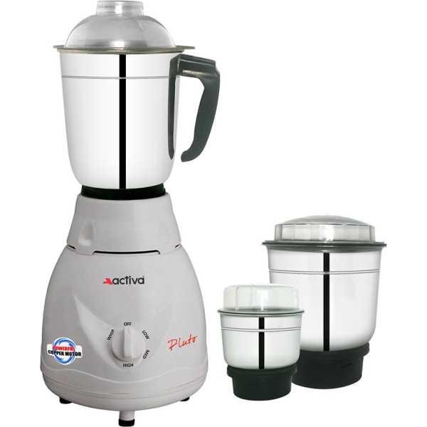 Activa Pluto Pro 500 Mixer Grinder (3 Jars) - White