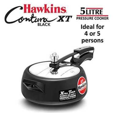Hawkins CXT35 Contura Black 3.5 L Pressure Cooker (Inner Lid)