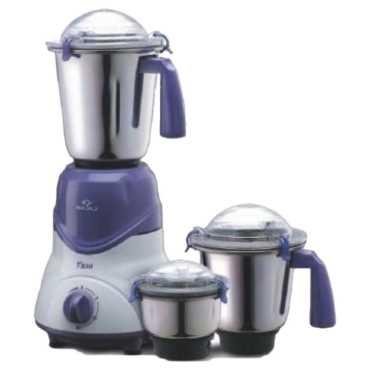 Bajaj Trio 600W Mixer Grinder (3 Jars) - White | Purple