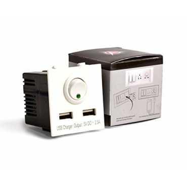 AccuCharger IIP-EMC-102 Dual USB Modular Charger - White