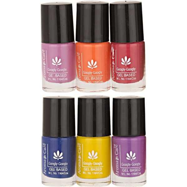 Aroma Care Mab Nail Polish 634-637-576-44-28-36 (Multicolor) (Set of 6)