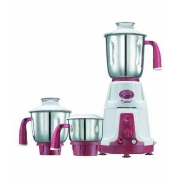 Prestige Deluxe Total VS 750W Mixer Grinder - White & Pink | White