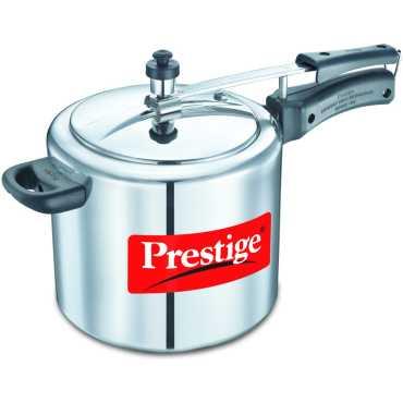 Prestige 11605 Aluminium 6.5 L Pressure Cooker (Induction Bottom,Inner Lid)