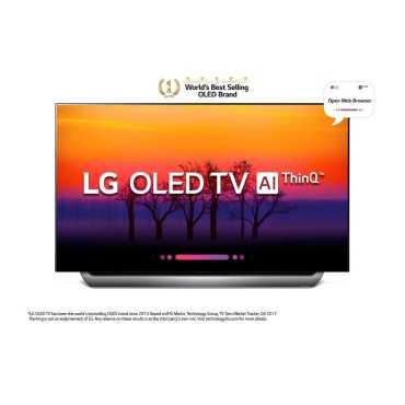LG OLED65B8PTA 65 Inch Ultra HD Smart OLED TV - Black&silver   Black
