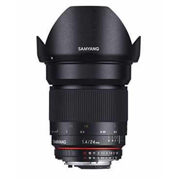 Samyang 24mm F1.4 Manual Focus Lens (For Nikon AE) - Black