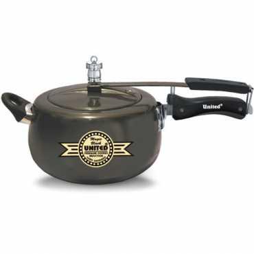 United Induction Magic Black 5 L Pressure Cooker (Inner Lid) - Black