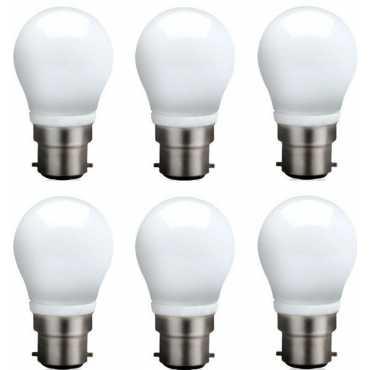 Syska 3 W B22 QA0301 LED Bulb (White, Pack of 6) - White