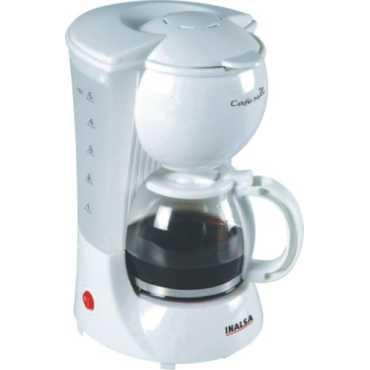 Inalsa Cafemax Coffee Maker - White | Brown
