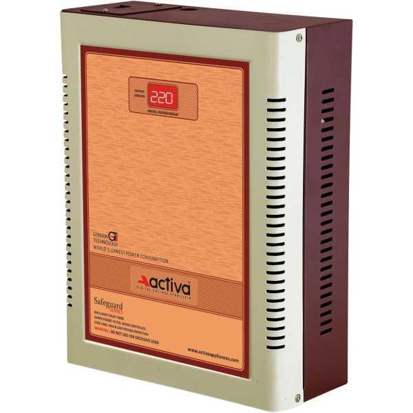 Activa 4 KVA /110-290V Digital AC Voltage Stabilizer - Silver | Brown