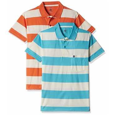 Men's Cotton T-Shirt (Pack of 2) (8907627096909_SDVP12Q_Medium_Spring Glaze)