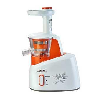 Usha Nutripress CPJ 361S 200W Cold Press Juicer - White | Orange