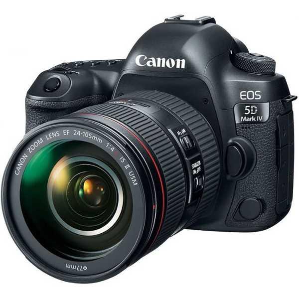 Canon EOS 5D Mark IV Digital SLR Camera (with EF 24-105mm IS II USM Lens) - Black
