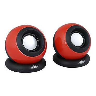 Ad-net SPR 503 Multimedia Modern Sound Speaker - Black   Red