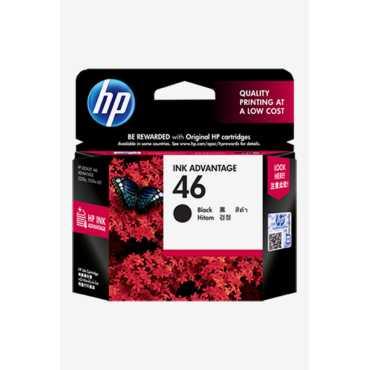 HP 46 Black Ink Cartridge - Black
