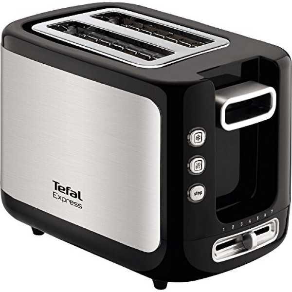 Tefal Express 2 Slice Pop Up Toaster - Grey